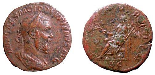 341: Pupienus. 238 AD. Sestertius. Rome. 19.3