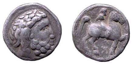 1: Danube Region. Imitating Philip II. Circa 2nd Centur