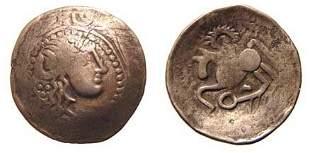 Eastern Celts, mid 2nd - mid 1st Century BC. AR Tetr