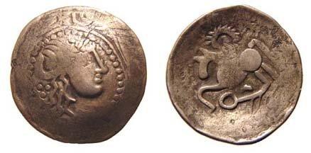 2: Eastern Celts, mid 2nd - mid 1st Century BC. AR Tetr