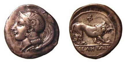 3: Lucania, Velia. 400 - 350 BC. AR Nomos. 7.53g. Head