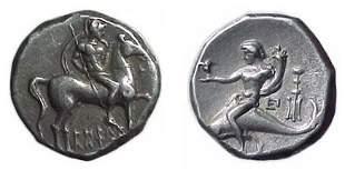 Calabria, Tarentum. c.272 - 240 BC. AR Stater. 6.41g