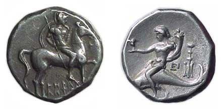 5: Calabria, Tarentum. c.272 - 240 BC. AR Stater. 6.41g