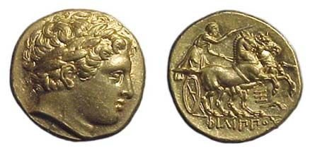 7: Philip II. 359 - 336 BC. Gold stater of 323 - 316 BC
