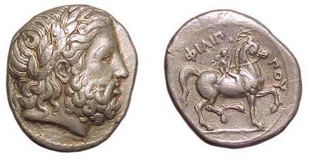 8: Philip II. 359 - 336 BC. AR Tetradrachm of 342 - 336