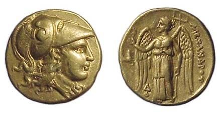 9: Alexander the Great. 336 - 323 BC. Gold Stater of 32
