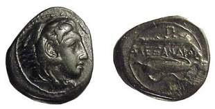 Alexander the Great. 336 - 323 BC. AE-18 of c.328 -