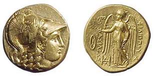 Philip III. 323 - 317 BC. Gold Stater. Babylon Mint