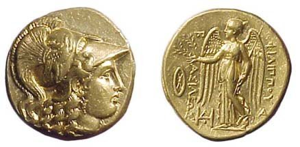 18: Philip III. 323 - 317 BC. Gold Stater. Babylon Mint