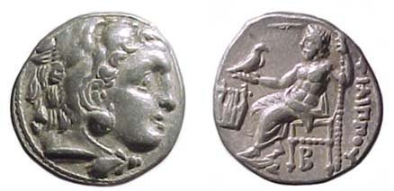 20: Philip III. 323 - 317 BC. AR Drachm of 319 - 310 BC