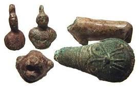 421: Greco-Roman Period, lot of 5 various bronze items
