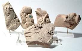 1001: Lot of 5 Hittite Terracottas. Hittite, c.1400 BC.