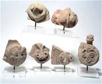 1002: Lot of 5 Hittite Terracottas. Hittite, c.1400 BC.