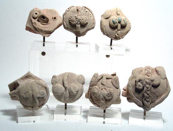 1003: Lot of 7 Hittite Terracottas. Hittite, c.1400 BC