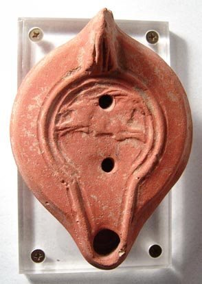 1009: Roman North African Lamp with Leaping Stag. North