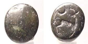 1188: Hittite, c. 1500 BC. A small circular hematite se