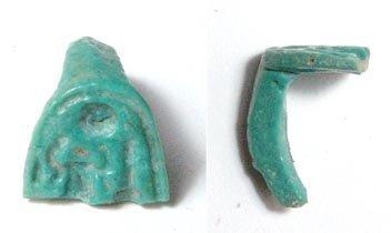 4: Upper part of green-blue glazed Akhenaten bezel with