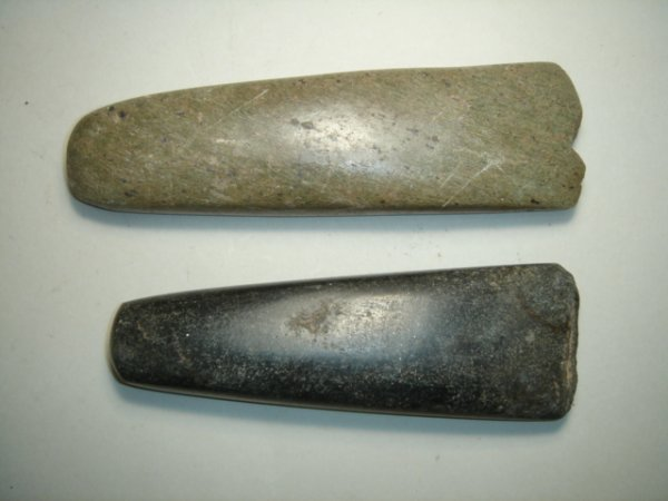 2001: A lot of two pre-historic hand axes. Both highly