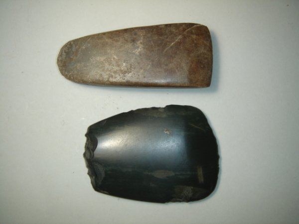 2003: A lot of two pre-historic hand axes, one of chise