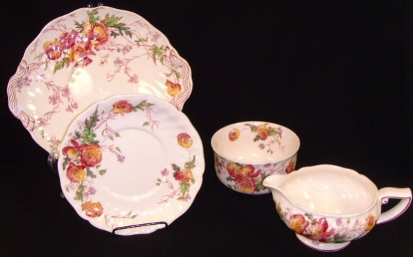 1: Royal Doulton Sherborne Decorated Serving Tray Lot