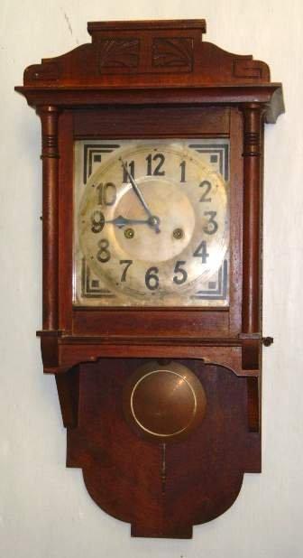 8: Victorian Continental Wall Clock Mahogany