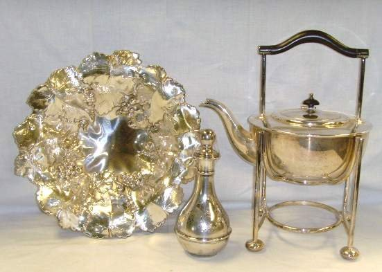 10: English Silver Plate Group