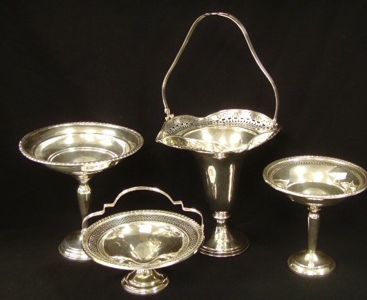 20: Sterling Silver Compote Basket Group
