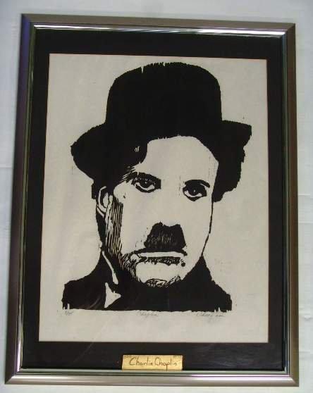 24: Signed Charlie Chaplin Litho