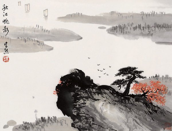 8:  Chinese painting by famous Chinese artist - Wei Zix