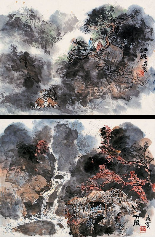 11:  Chinese painting by famous Chinese artist - Wang W