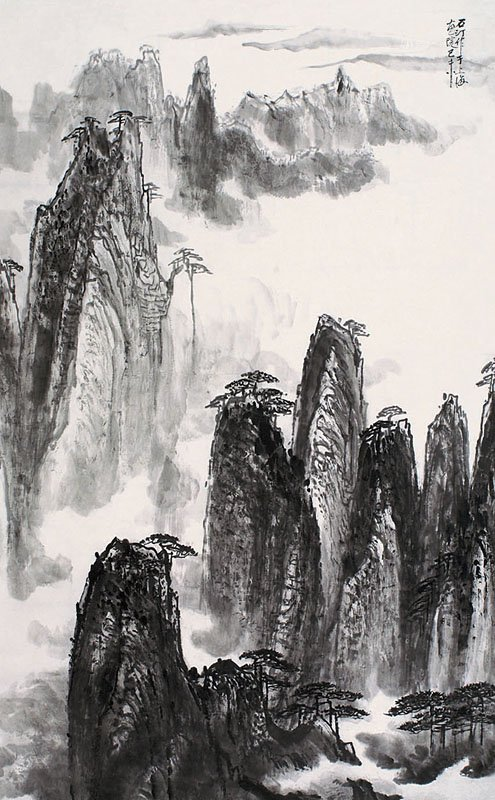 13:  Chinese painting by famous Chinese artist - Shi Ti