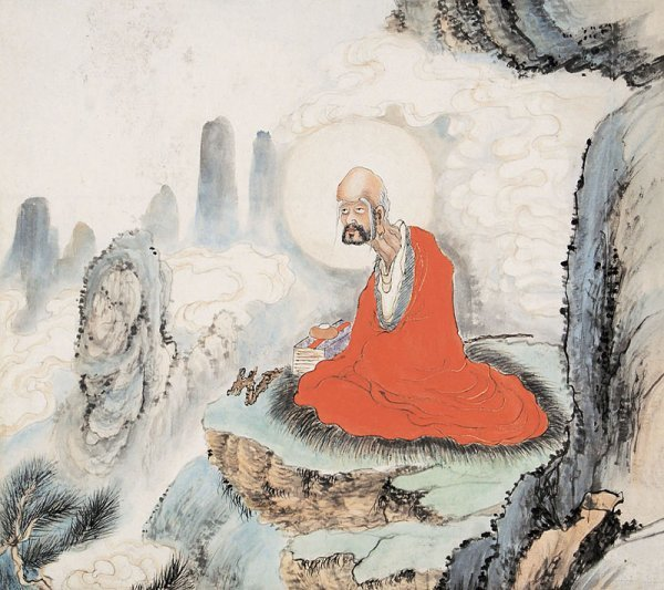23:  Chinese painting Anonymous.  Mounted Scroll, Ink a