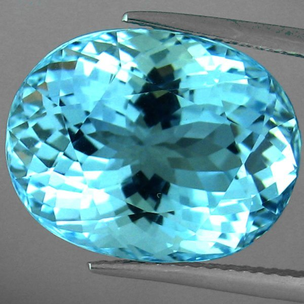 326: ROYAL CLASS LUSTER~AAA~15.10 CTS BLUE AQUAMARINE