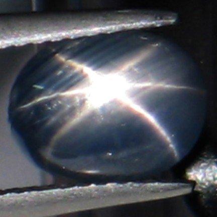 2072: 3+CTS~ SHARP RICH NATURAL BLUE STAR SAPPHIRE
