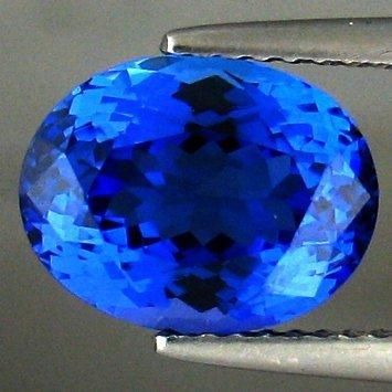 1106: 3.77cts~Natural AAA+ D block Blue Tanzanite~If