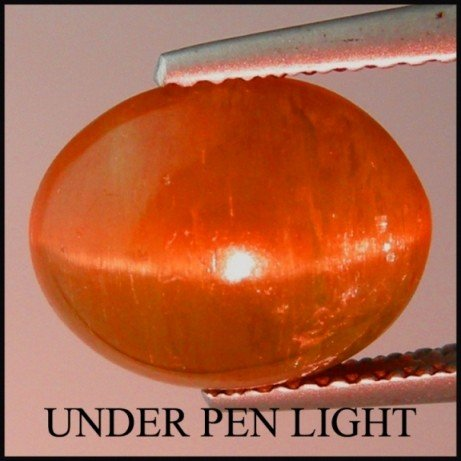 12: 5.15Cts~ NATURAL  APPATITE CAT 'S EYE