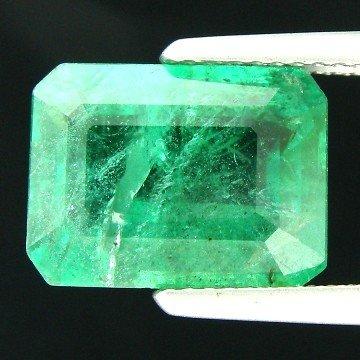 50: 5.96CTS~Rich Green Emerald Transperant