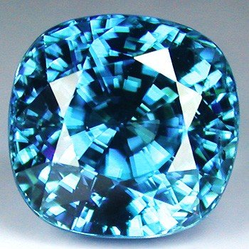 2343: 6.39CTS~  NATURAL BLUE ZIRCON ~flawless
