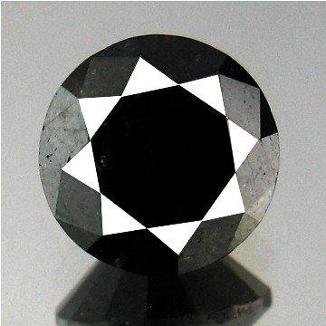 1813: 5.30cts~ 100%Natural Black Diamond
