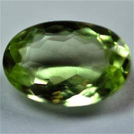 2559: 2.62Cts ~NATURAL GREEN SILIMINATE ~Flawless
