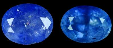 7293: 2.46 cts~Natural UNHEAT SAPPHIRE  blue