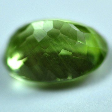 2543: 6.29Cts ~NATURAL GREEN SILIMINATE ~Flawless