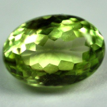 2548: 3.40Cts ~NATURAL GREEN SILIMINATE ~Flawless