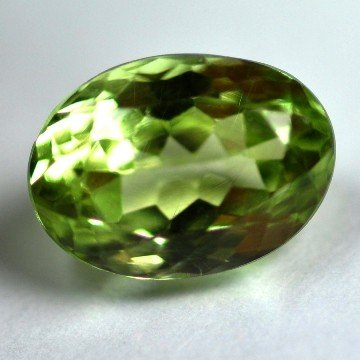 2586: 3.58Cts ~NATURAL GREEN SILIMINATE ~Flawless