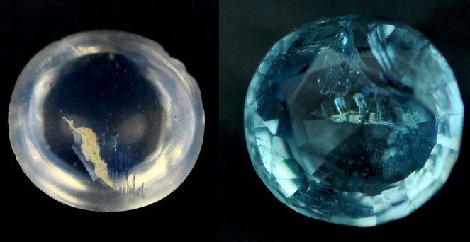 7307: 1.39 Rare Natural acuamarine from Brazil ~