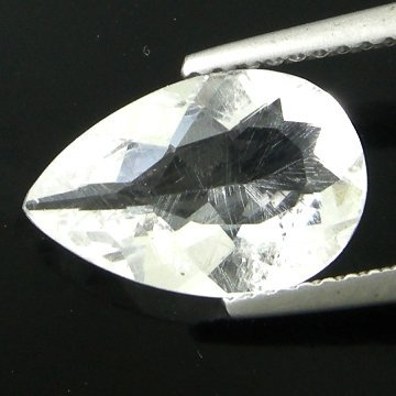 212: 1.50cts~Wow Pure White Diamond Like Pollucite