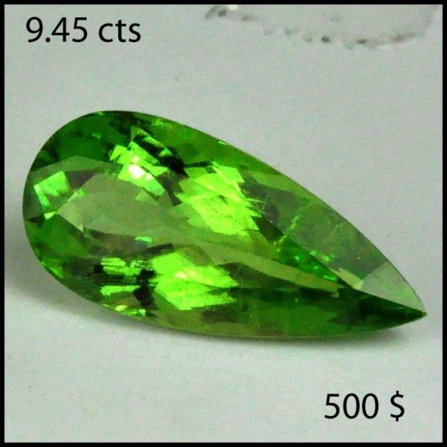 20: 9.45 cts~ Natural hot  GREEN Tourmaline