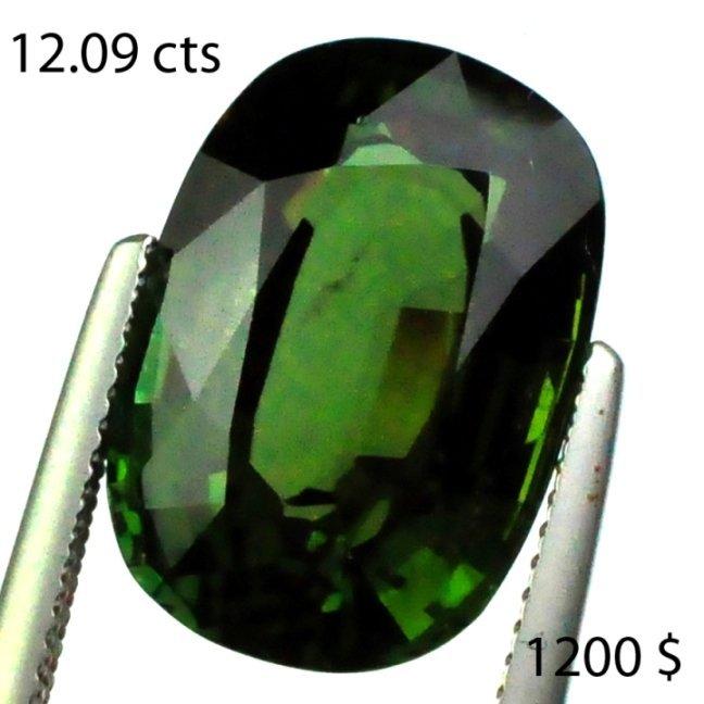 35: 12.09 cts~ Natural hot  GREEN Tourmaline