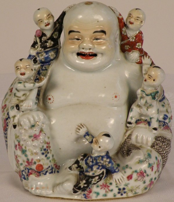 7: A Chinese famille-rose figure of Budai
