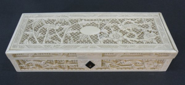 12: Chinese ivory sewing box